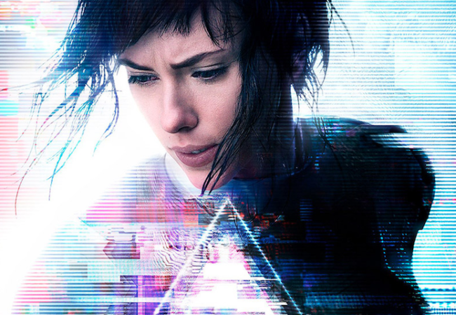 Ghost in the Shell Scarlett Johansson live-action poster black hair